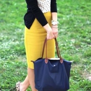CAbi Yellow Pencil Skirt Size 16